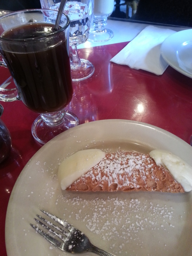 Cannoli and american coffee